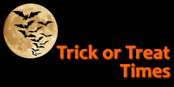 2017 Trick or Treat Times, WVVV, Mid Ohio Valley, West Virginia, Ohio, Halloween